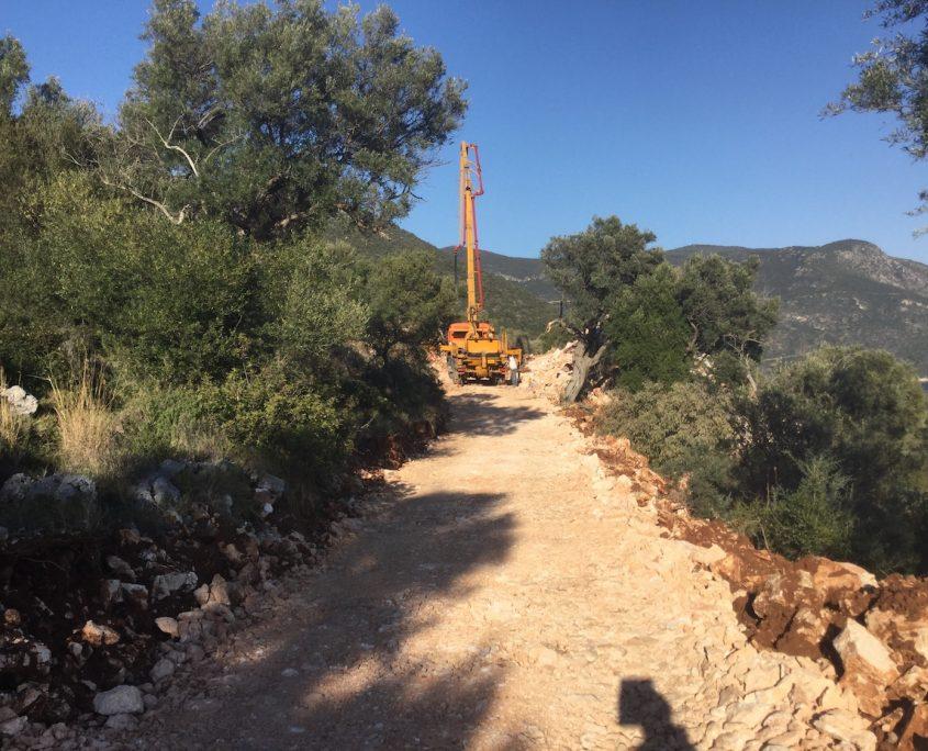 Bauprojekt Lefkada Betonarbeiten